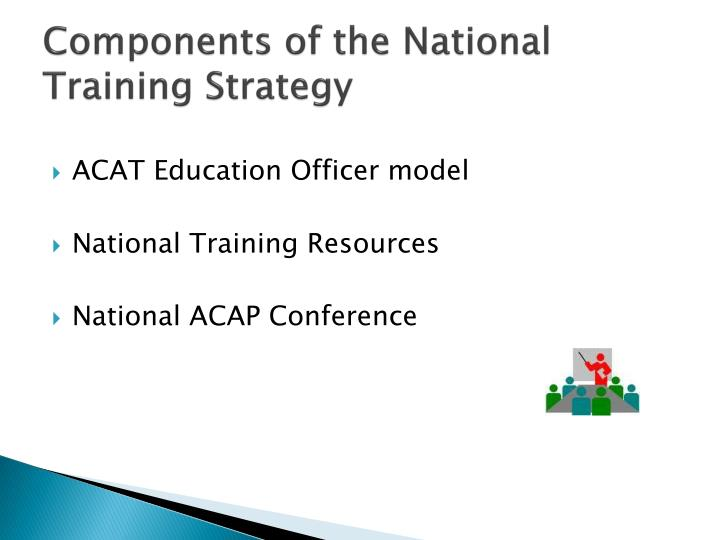 Components of the National Training Strategy