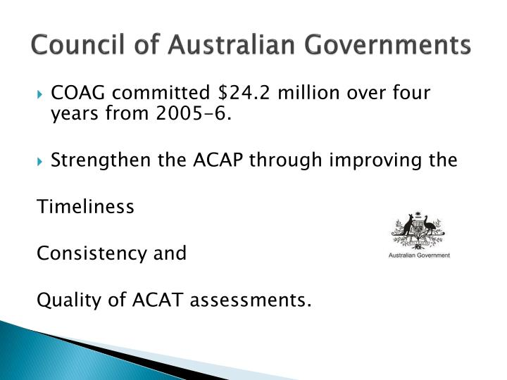 Council of Australian Governments