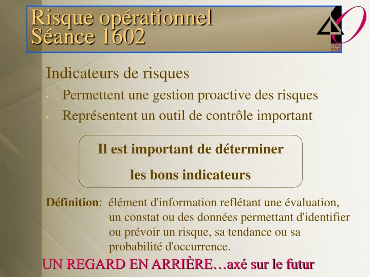 Indicateurs de risques