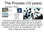 the process 10 years