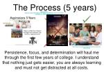 the process 5 years