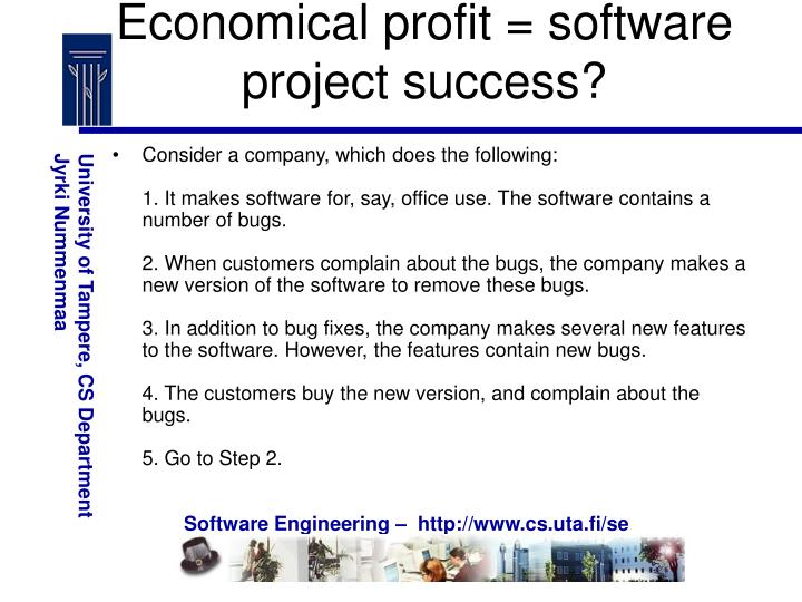 Economical profit = software project success?
