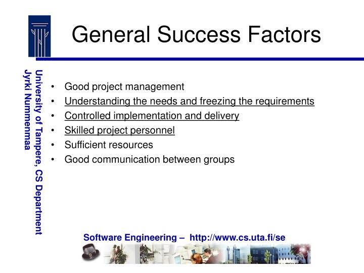 General Success Factors