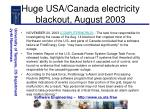 huge usa canada electricity blackout august 2003