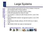 large systems