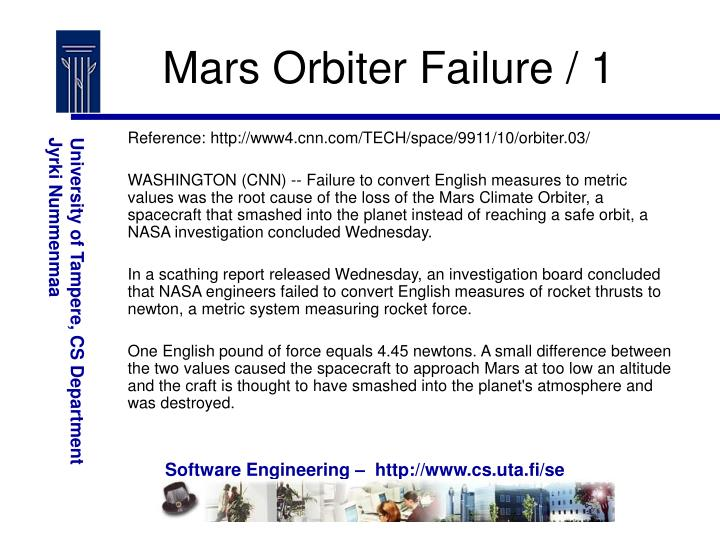 Mars Orbiter Failure / 1