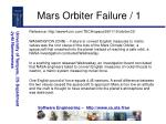 mars orbiter failure 1