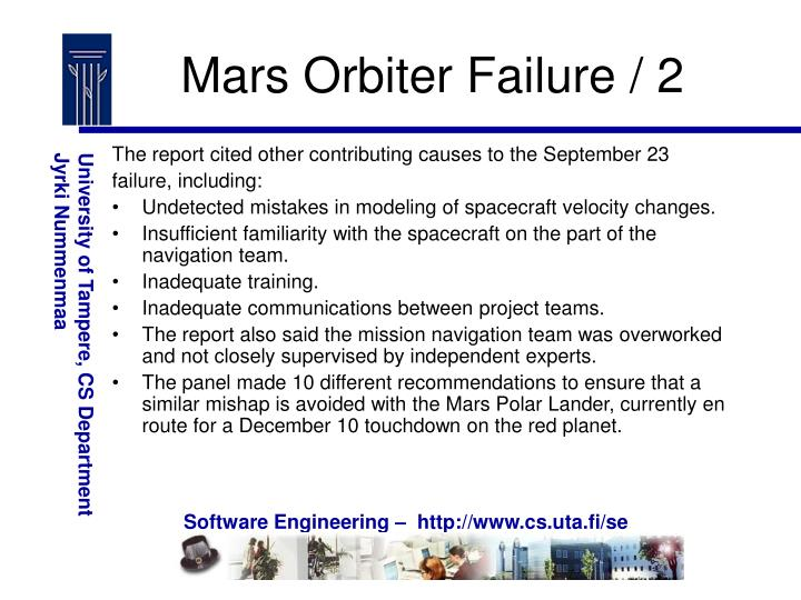 Mars Orbiter Failure / 2