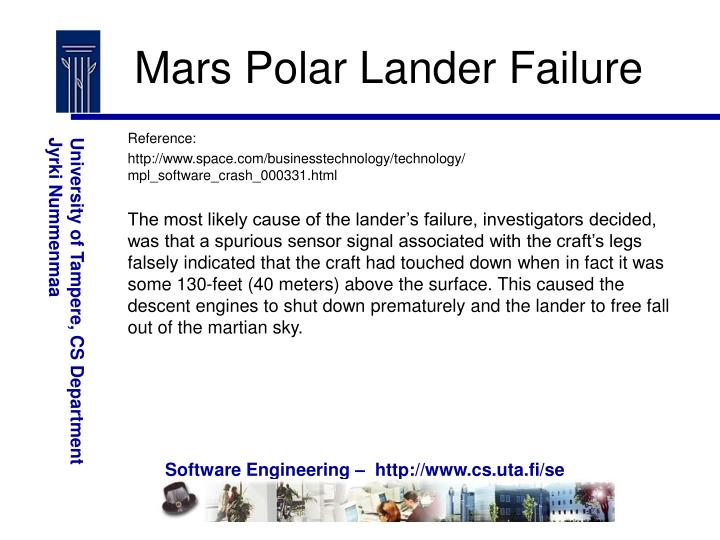 Mars Polar Lander Failure