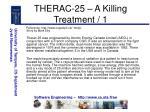therac 25 a killing treatment 1