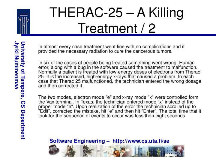 THERAC-25 – A Killing Treatment / 2