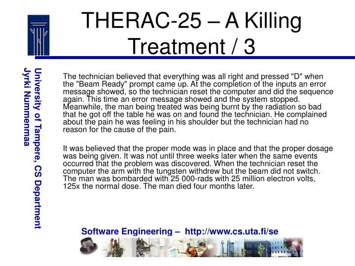 THERAC-25 – A Killing Treatment / 3