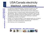 usa canada electricity blackout conclusions