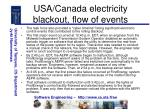 usa canada electricity blackout flow of events