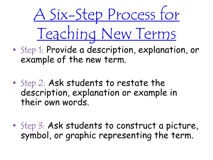A Six-Step Process for