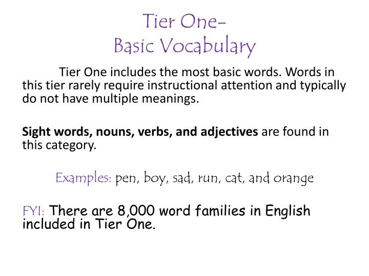 Tier One-