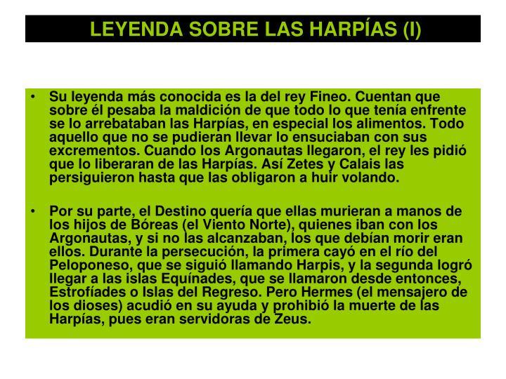 LEYENDA SOBRE LAS HARPÍAS (I)