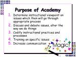 purpose of academy