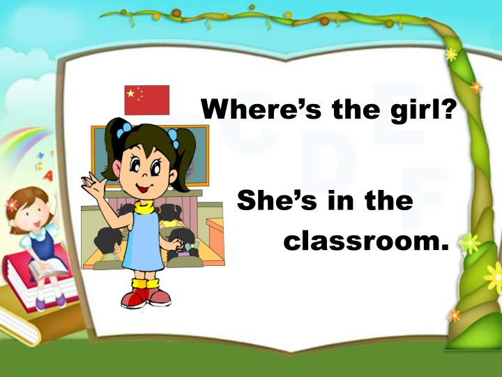 She's in the