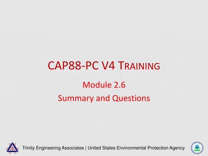 Cap88 pc v4 training