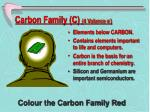 carbon family c 4 valance e