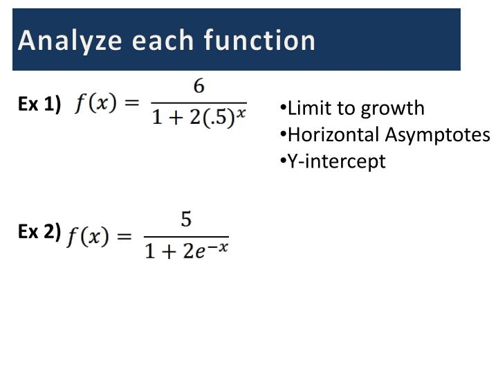 Analyze each function