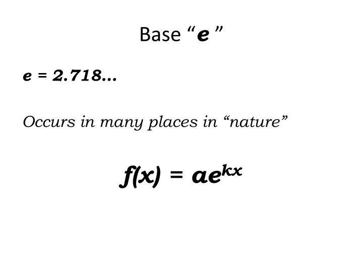 """Base """""""