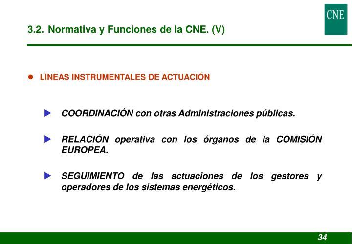 3.2. Normativa y Funciones de la CNE. (V)