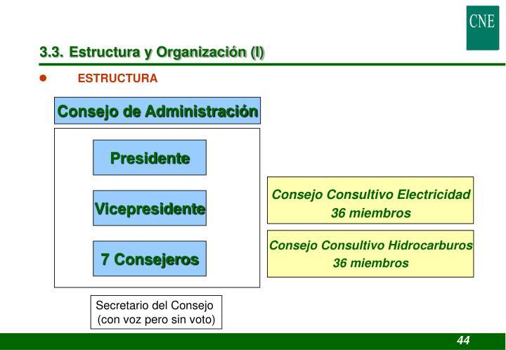 3.3. Estructura y Organización (I)