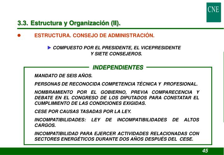 3.3. Estructura y Organización (II).