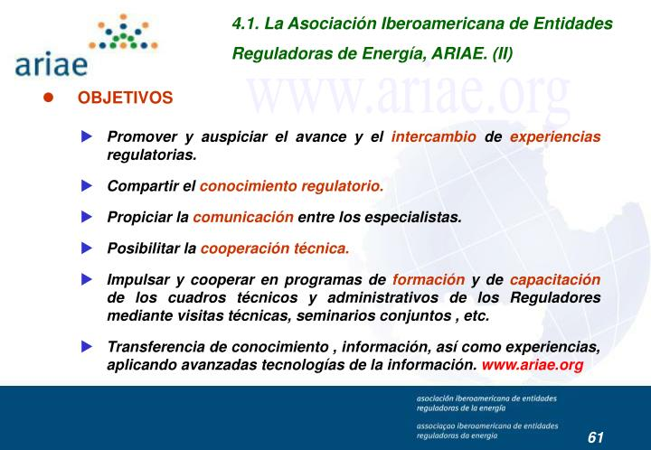 4.1. La Asociación Iberoamericana de Entidades