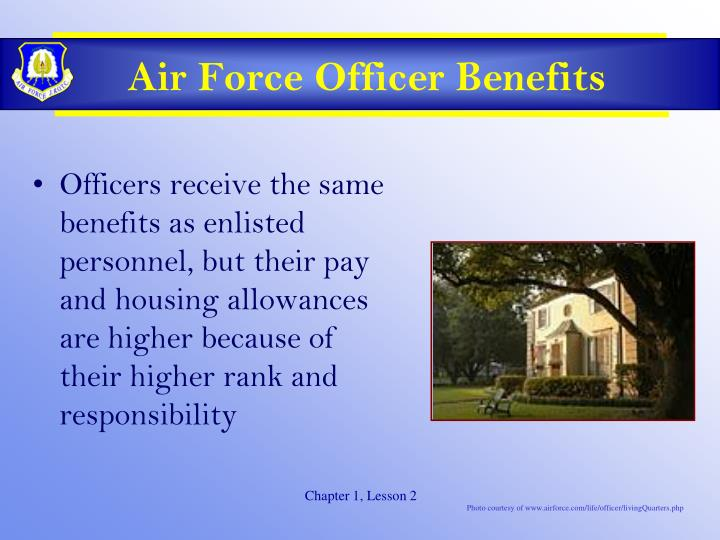 Air Force Officer Benefits