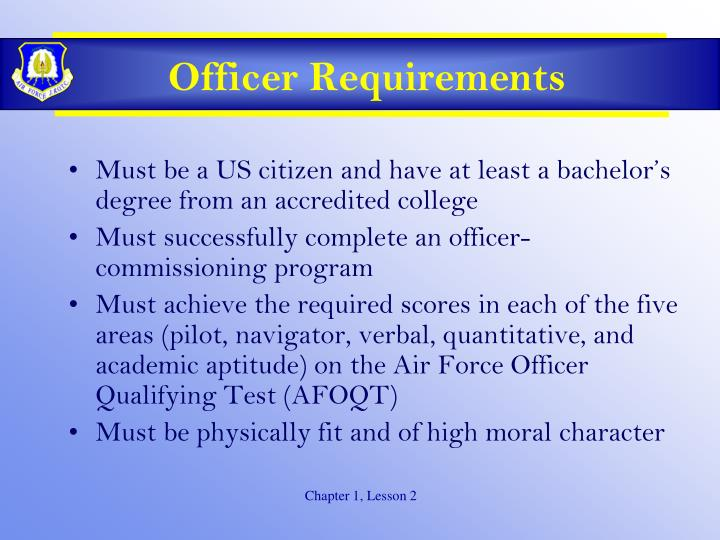 Officer Requirements