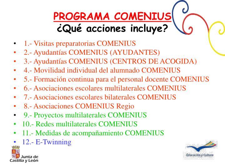 1.- Visitas preparatorias COMENIUS