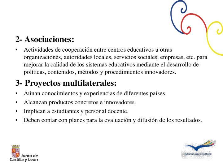 2- Asociaciones: