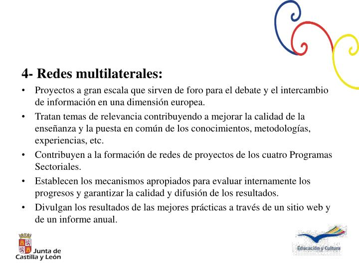 4- Redes multilaterales: