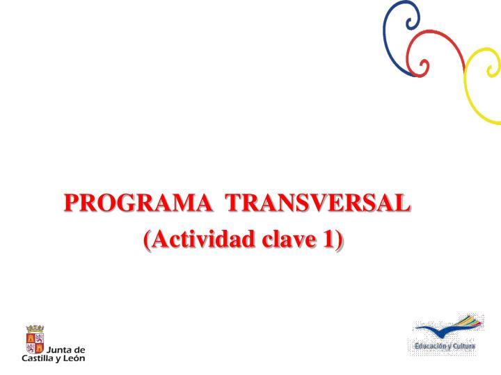 PROGRAMA  TRANSVERSAL