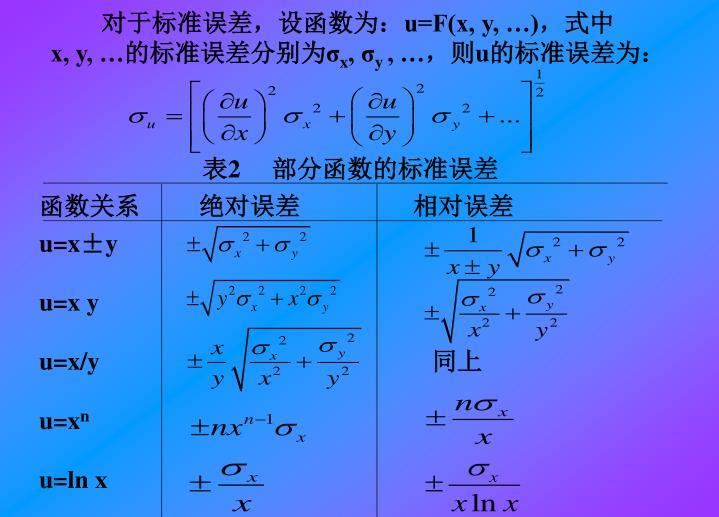 对于标准误差,设函数为: