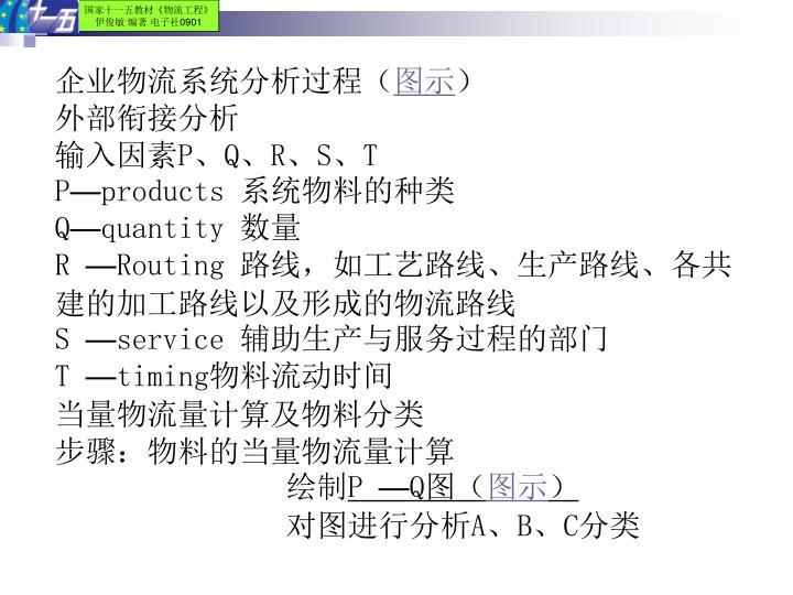 企业物流系统分析过程(