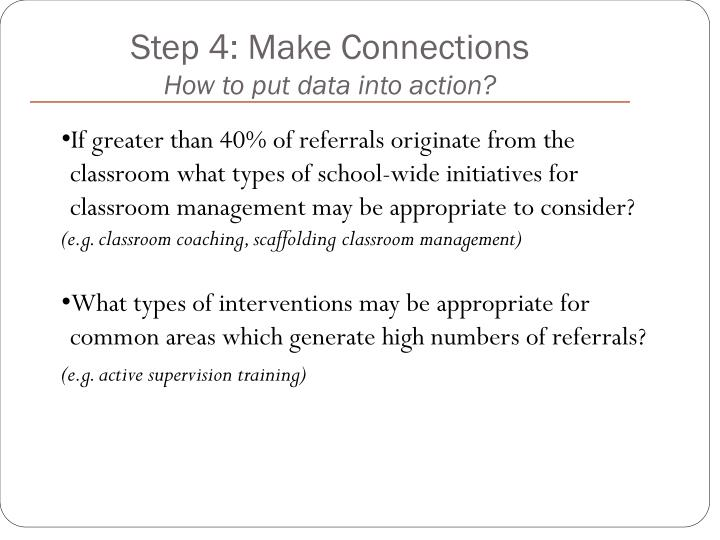 Step 4: Make Connections