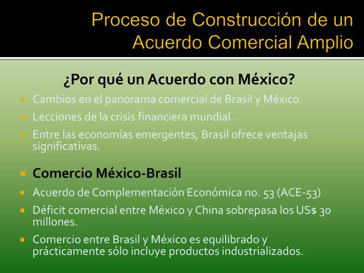 Proceso de Construcción de un Acuerdo Comercial Amplio