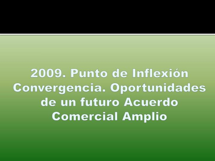 2009. Punto de Inflexión Convergencia. Oportunidades de un futuro Acuerdo Comercial Amplio