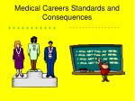 medical careers standards and consequences