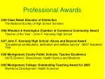 professional awards