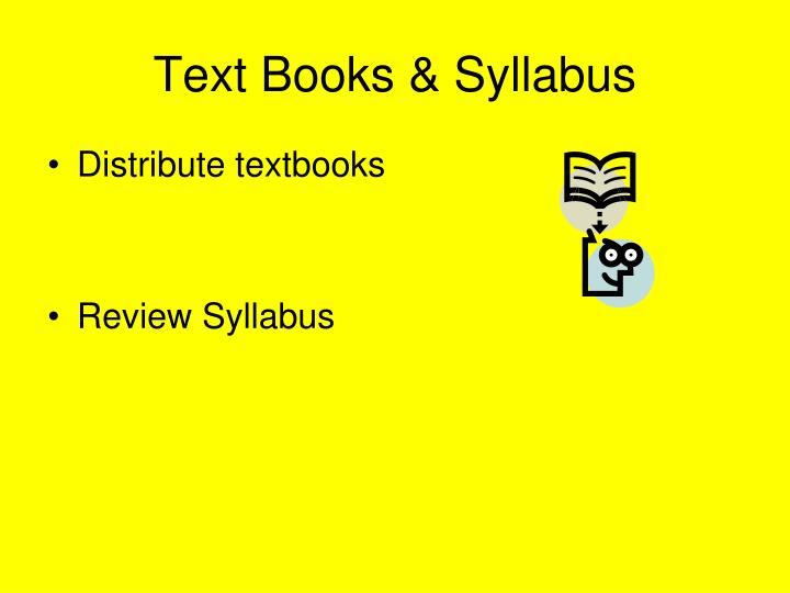 Text Books & Syllabus