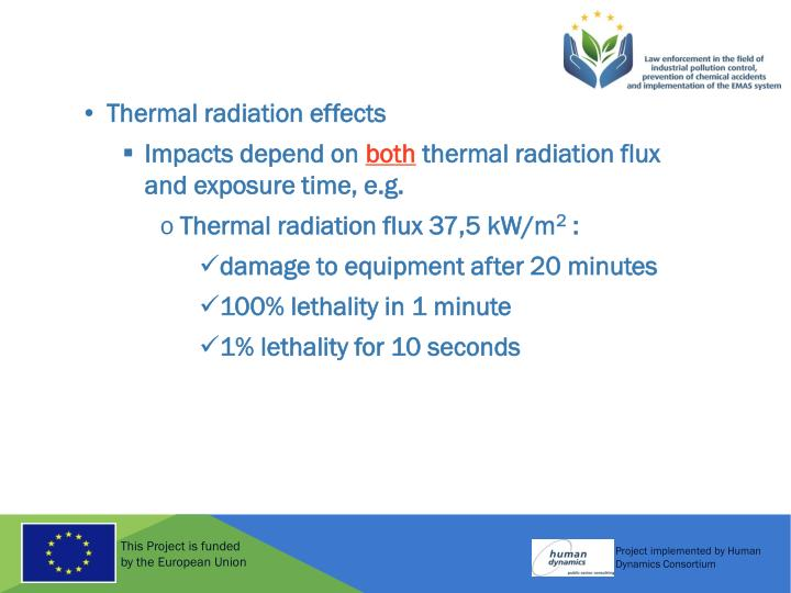 Thermal radiation effects