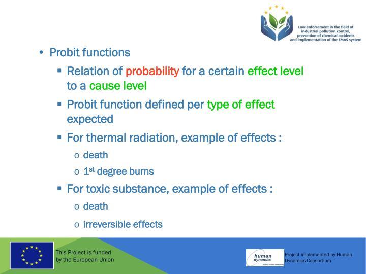 Probit functions