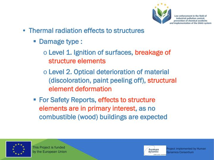 Thermal radiation effects to structures