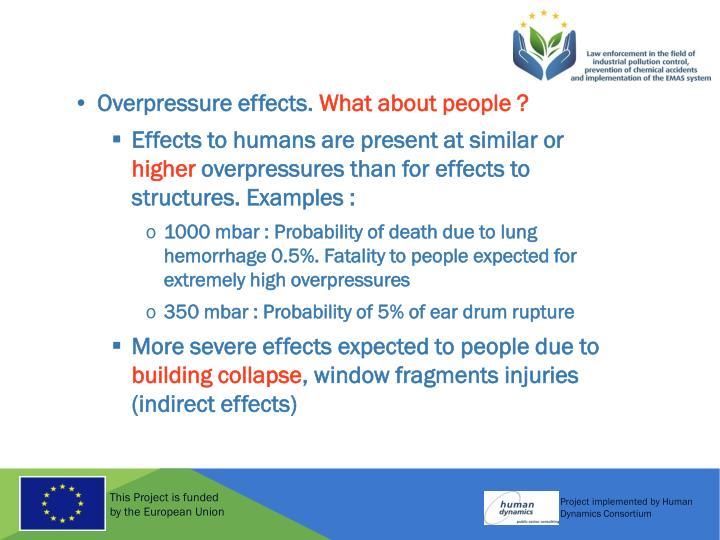 Overpressure effects.