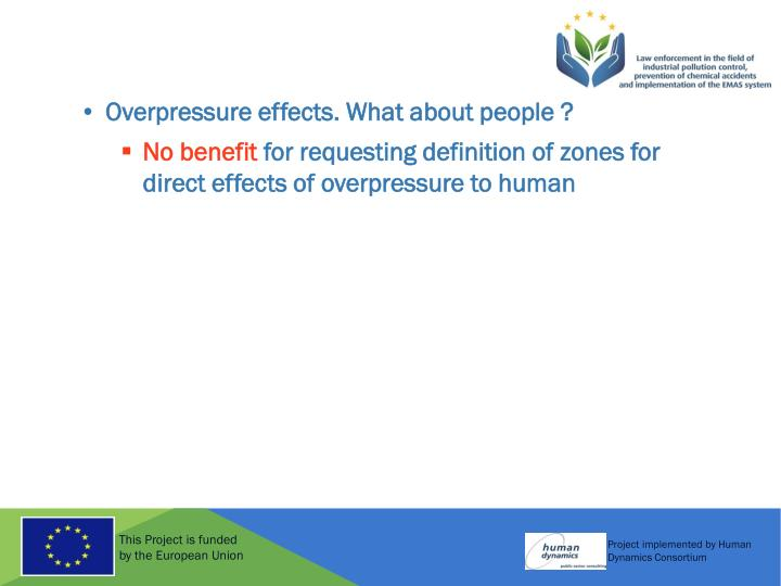Overpressure effects. What about people ?